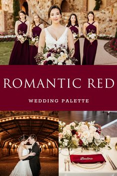 This color palette is timeless for weddings! Tuscan Wedding, Red Wedding, Perfect Wedding, Wedding Colors, Wedding Events, Weddings, Orlando Wedding Venues, Florida Wedding Venues, Bridesmaid Dresses