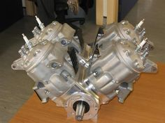 4 Honda CR 500 top ends on a custom crankcase. On bad V-4 engine. I want one