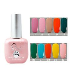 QINF CH Soak-off Pink Bottle Solid Color UV Color Gel Polish Color) * Check this awesome product by going to the link at the image. Pink Bottle, Gel Polish, Lipstick, Beauty, Decoration, Nails, Link, Awesome, Check