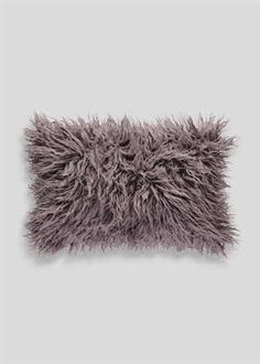 Mongolian Faux Fur Cushion (50cm x 30cm)