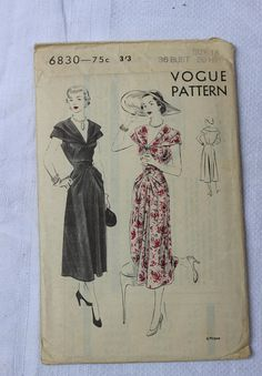 Vogue Sewing Pattern 6830 One Piece Dress Size 18 Factory Fold