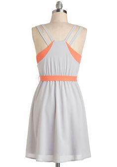 $48 Pop of Coral Dress, #ModCloth