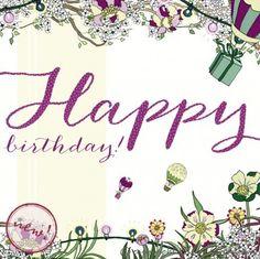 Birthday Balloons Greeting Card Blank Inside 320