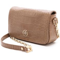 Tory Burch Robinson Mini Bag ($395) ❤ liked on Polyvore