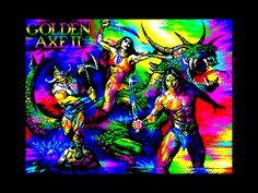 """ZX Spectrum 8-bit pixel art picture """"Golden Axe II"""" by Oleg Origin"""