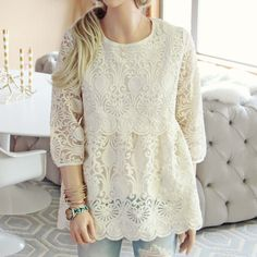 Lace Blouses Peplum And Blouses