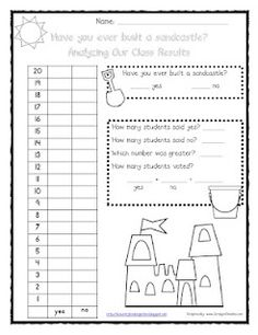 Have you ever built a sandcastle? Class graph and printables freebie