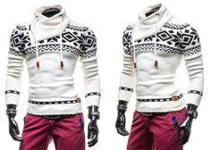 COMEOR 583 - BIAŁY | On \ Swetry męskie | Denley - Odzieżowy Sklep internetowy | Odzież | Ubrania | Płaszcze | Kurtki