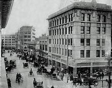 Downtown El Paso in 1908