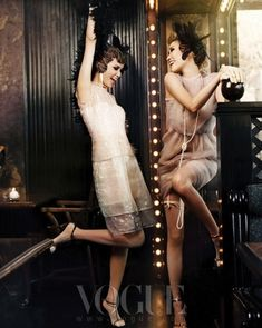 """""""Good Time Girls"""": Flappers by Hong Jang Hyun for Vogue Korea 
