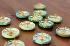 Cute as a Button! Easy DIY Fabric Button Earrings via Brit + Co.
