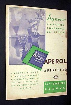 Pubblicità Advert APEROL APERITIVO Barbieri Padova 1932