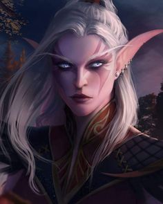 Warcraft Art, World Of Warcraft, Elf Druid, D D Characters, Fictional Characters, For The Horde, Night Elf, Wow Art, Inspirational Artwork