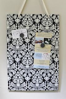 Magnolia Mommy Made: DIY Fabric Covered Magnetic Memo Board Tutorial