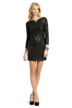 Black Zepplin Mini Shift  from RentTheRunway.com - wearing this to the company Christmas party!