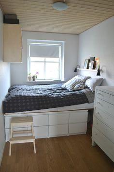Smart seng med masser af opbevaring, til de voksne
