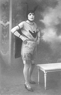 Next Halloween?   Early 1900s Batman Halloween; she's rocking that headpiece like a boss!!