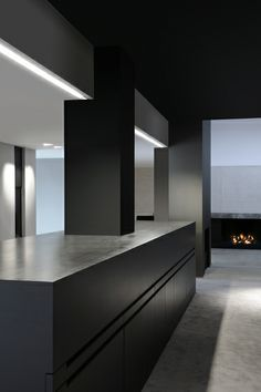 Sober And Pure Lines, Black And White Minimal Interior With The Ligna  Light. Vincent King · Minimalist Loft Design Ideas
