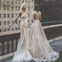 No one does bridal details like Inbal Dror. Which gown would you choose - left or right? | WedLuxe Magazine | #WedLuxe #Wedding #luxury #weddinginspiration #luxurywedding #fashion