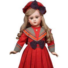 "27"" E J 12 Jumeau Bebe in Fabulous Costume, Original Body, Just from kathylibratysantiques on Ruby Lane"