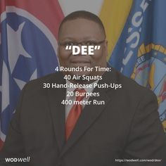 4 Rounds For Time: 40 Air Squats; 30 Hand-Release Push-Ups; 20 Burpees; 400 meter Run