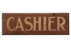 Cashier Sign on OneKingsLane.com