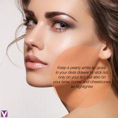 Make your gloss multitask #beautytip #lipgloss #quickfix #makeuptips