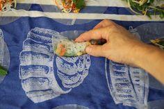 Vietnamese Rice Paper Rolls lined up Vietnamese Rice Paper Rolls, Vietnamese Spring Rolls, Rice Paper Recipes, Laos Food, Salad Rolls, Vegetable Prep, Vermicelli Noodles, Fried Shallots, Lemon Rice
