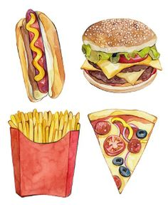 Hand-painted food