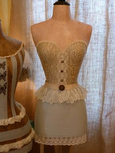 Vintage Inspired Dress Form Mannequin Lace Belt by StarviewSonnet