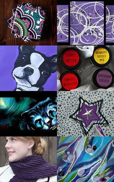 Love these colours! Purple and Blue are soo pretty! --Pinned with TreasuryPin.com