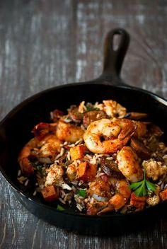 "Chicken Sausage & Shrimp ""Dirty Rice"""