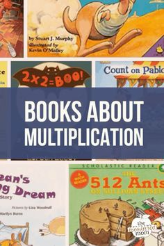Children's literature can be a great way to introduce math concepts. Check out this list of books about multiplication! Math Literature, Math Books, Children's Books, Teen Books, Fiction Books, Audio Books, Picture Story Books, Homeschool Math, Homeschooling