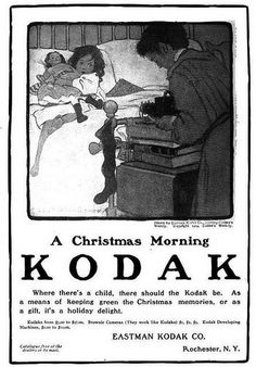 Kodak Eastman Xmas morning vintage ad