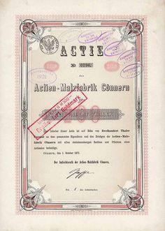 Actien-Malzfabrik Cönnern /  Actie 200 Thaler 1.10.1872. Gründeraktie (Auflage 500, R 8).