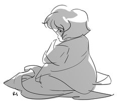 Lapis in a blanket by Rebecca S