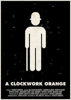 A Clockwork Orange [Stanley Kubrick, «Stanley Kubrick Pictogram Movie Posters Author: Viktor Hertz Stanley Kubrick, Minimal Movie Posters, Film Posters, Cinema Posters, A Clockwork Orange, 8k Tv, Poster Minimalista, Alternative Movie Posters, Album Book