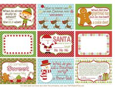 Free Printable Christmas Lunch Box Notes from ThePolkaDotPosie{Printables}