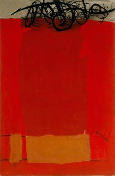 Roger Hilton. 1963.  Roger Hilton was a pioneer of abstract art in post-war Britain.  ✭~~hh/