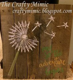 "The Crafty Mimic: Dandilion String Art : A ""How To"" on a Detailed Design"