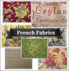 loooooooove the typical fabrics of French Country design!  makin up my mind which ones I want in MY kitchen/dining area is proving to be tortuous!!!  http://www.decorating-ideas-made-easy.com/french-country-decorating.html