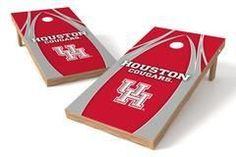 Houston Cougars Single Cornhole Board - The Edge