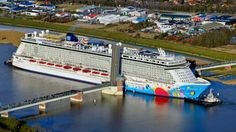 Norwegian Breakaway in Ems River Papenburg Germany