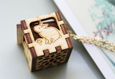 Cyber Monday Etsy - Woodland Animals Locket - Rabbit, Deer, Squirrel, Bear, Leaves. $34.99, via Etsy.