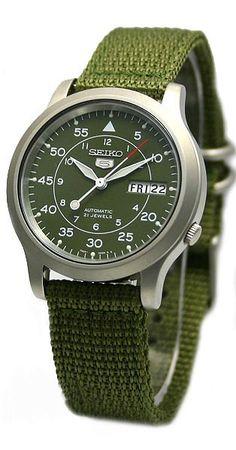 Seiko 5 (Seiko Five) Men' s Military Automatic Watch # # Best Watches For Men, Amazing Watches, Luxury Watches For Men, Cool Watches, Stylish Watches, Seiko 5 Sports, Patek Philippe, Seiko 5 Military, Seiko 5 Automatic Watch