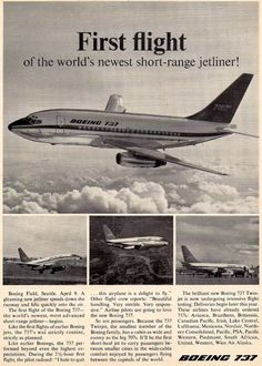 The First Flight of the Boeing 737