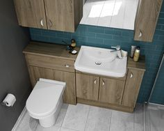 Truffle - Slimline bathroom cabinets make the most of small spaces.