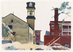 Edward Hopper - (Bell Tower) 1923-24
