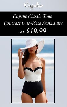 Get  Cupshe Classic TOne Contract One-Piece Swimsuit of $19.99  . Snap up now and avail this offer.  For more Cupshe Coupon Codes visit:  http://www.couponcutcode.com/stores/cupshe-coupon-codes/