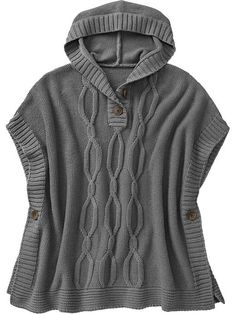 So cute!! I love this!! I hope they have it in Mommy size too!!!!!!!!! ;)  Girls Hooded Sweater Poncho